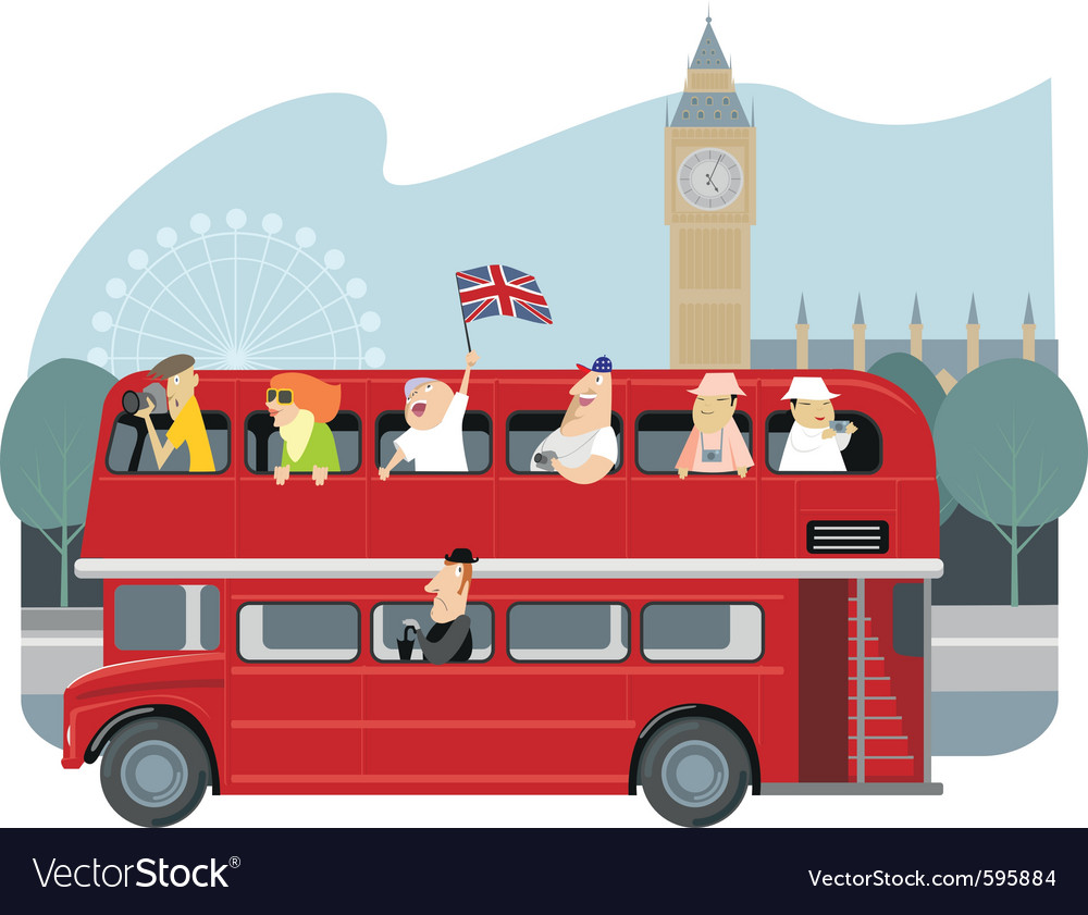 London sightseeing vector | Price: 3 Credit (USD $3)