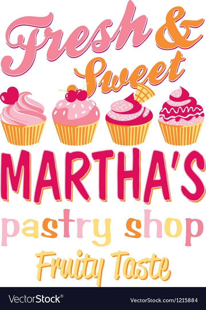 Martha pastry shop vector | Price: 1 Credit (USD $1)