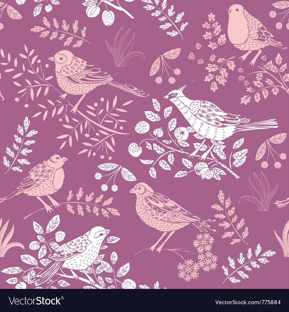 Nature bird wallpaper vector | Price: 1 Credit (USD $1)