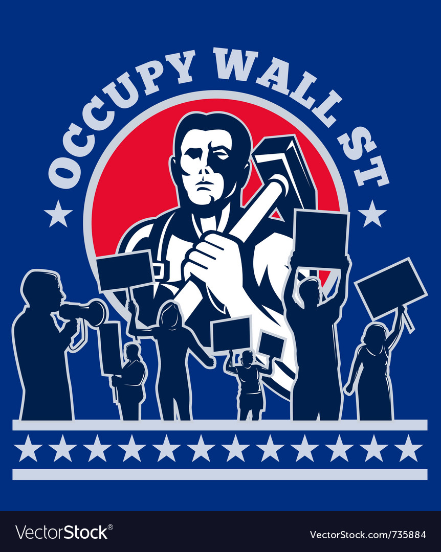 Occupy wall street poster vector | Price: 1 Credit (USD $1)