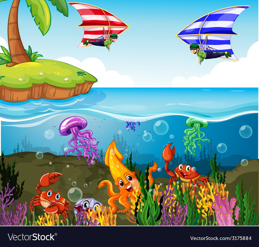 Ocean vector | Price: 1 Credit (USD $1)