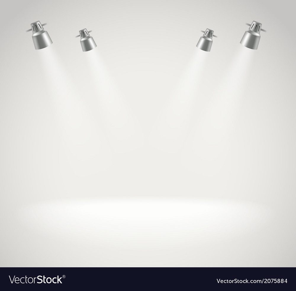 Photorealistic bright stage with spot lights vector | Price: 1 Credit (USD $1)
