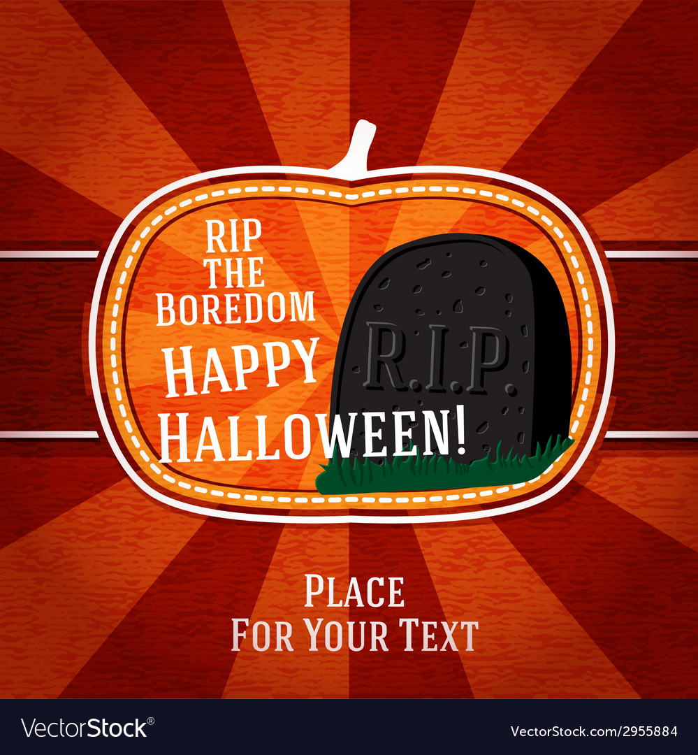 Pumpkin shape retro stylized badge with black rip vector | Price: 1 Credit (USD $1)