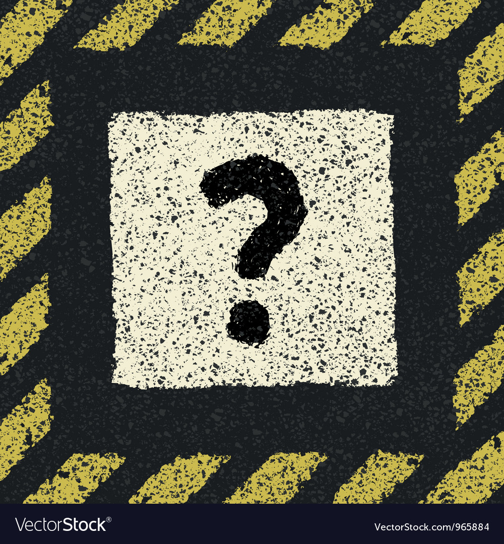 Question sign on asphalt in hazard frame eps8 vector | Price: 1 Credit (USD $1)