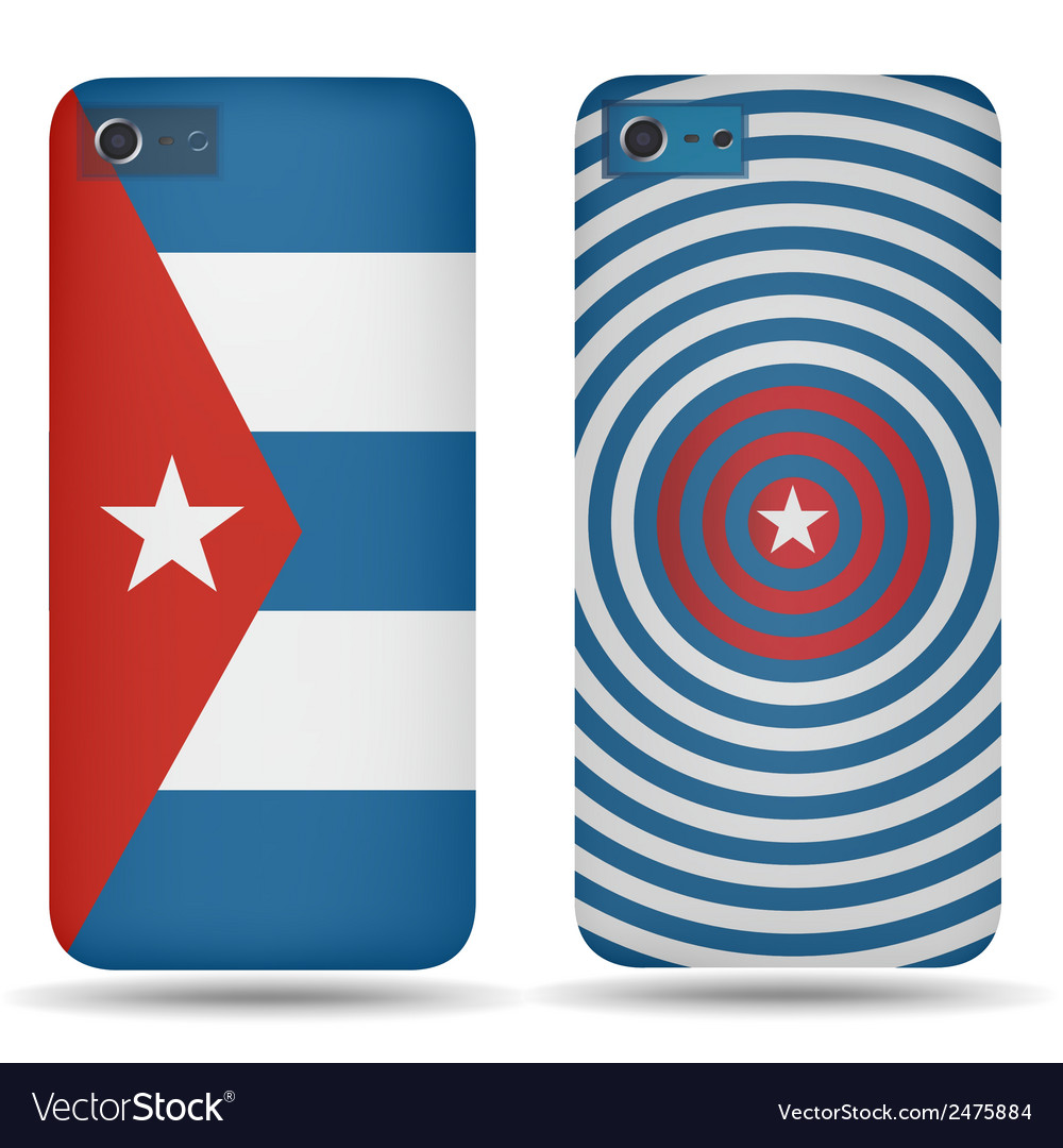 Rear covers smartphone with flags of cuba vector | Price: 1 Credit (USD $1)