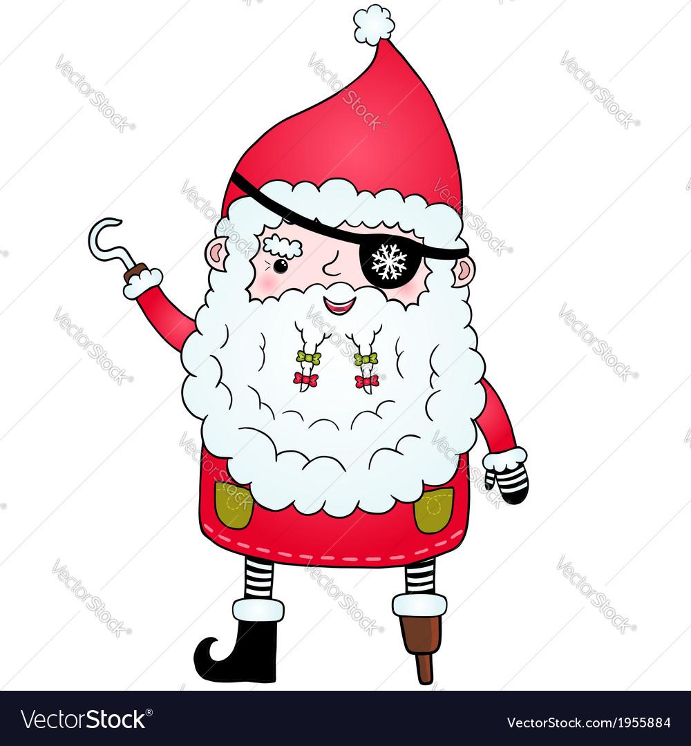 Santa claus pirate vector   Price: 1 Credit (USD $1)