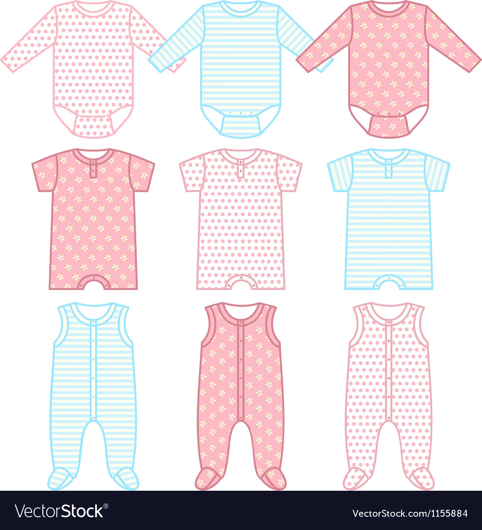 Set of child wear vector | Price: 1 Credit (USD $1)