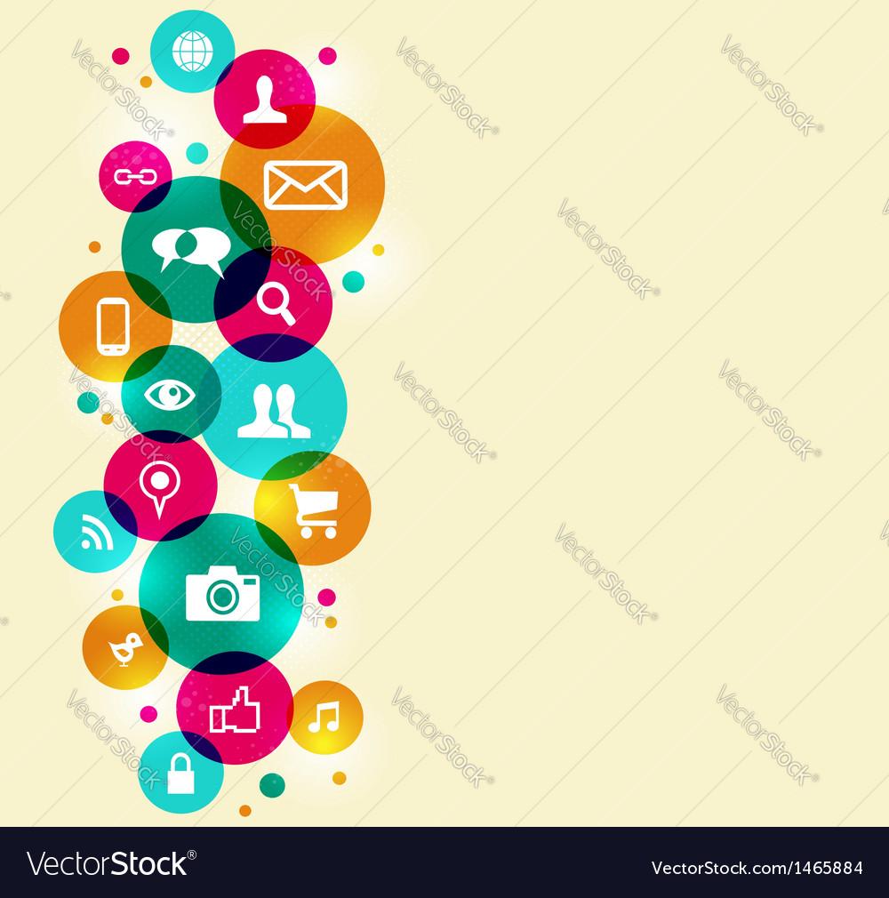 Social media icons set vector | Price: 1 Credit (USD $1)
