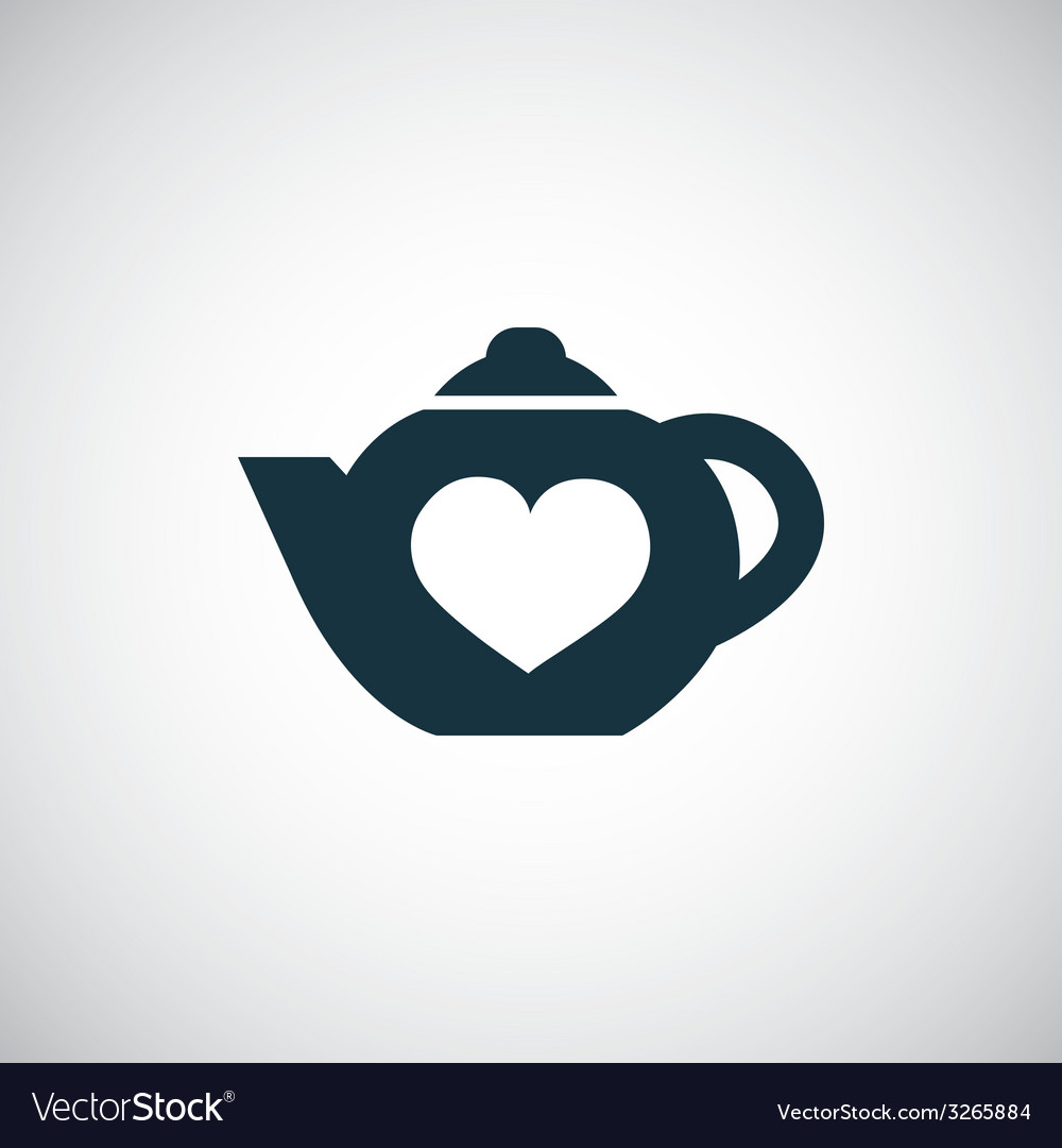 Teapot icon with heart vector | Price: 1 Credit (USD $1)