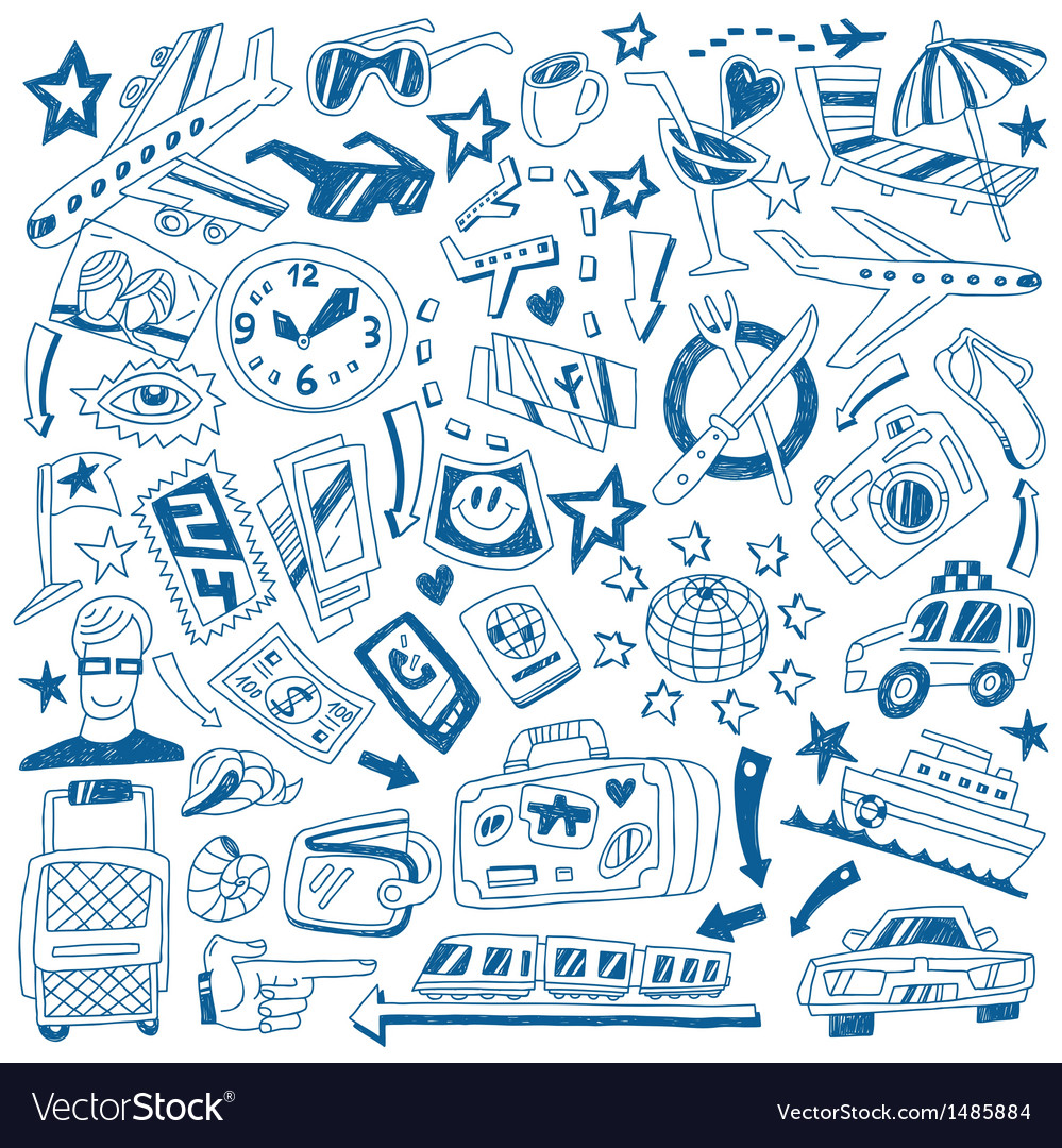 Travel doodles vector | Price: 1 Credit (USD $1)