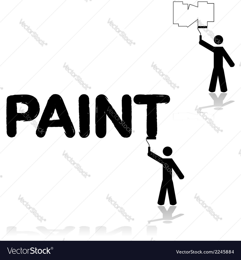 Wall painter vector | Price: 1 Credit (USD $1)