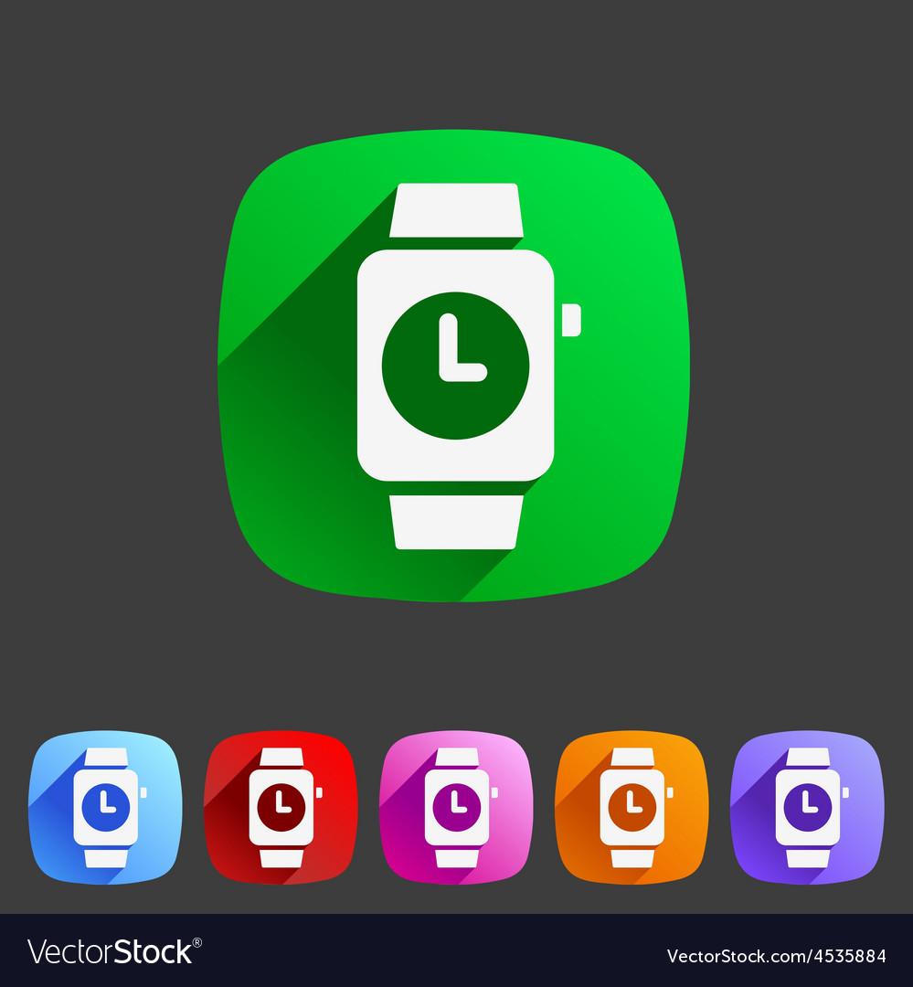 Watch icon sign symbol logo label set vector | Price: 1 Credit (USD $1)