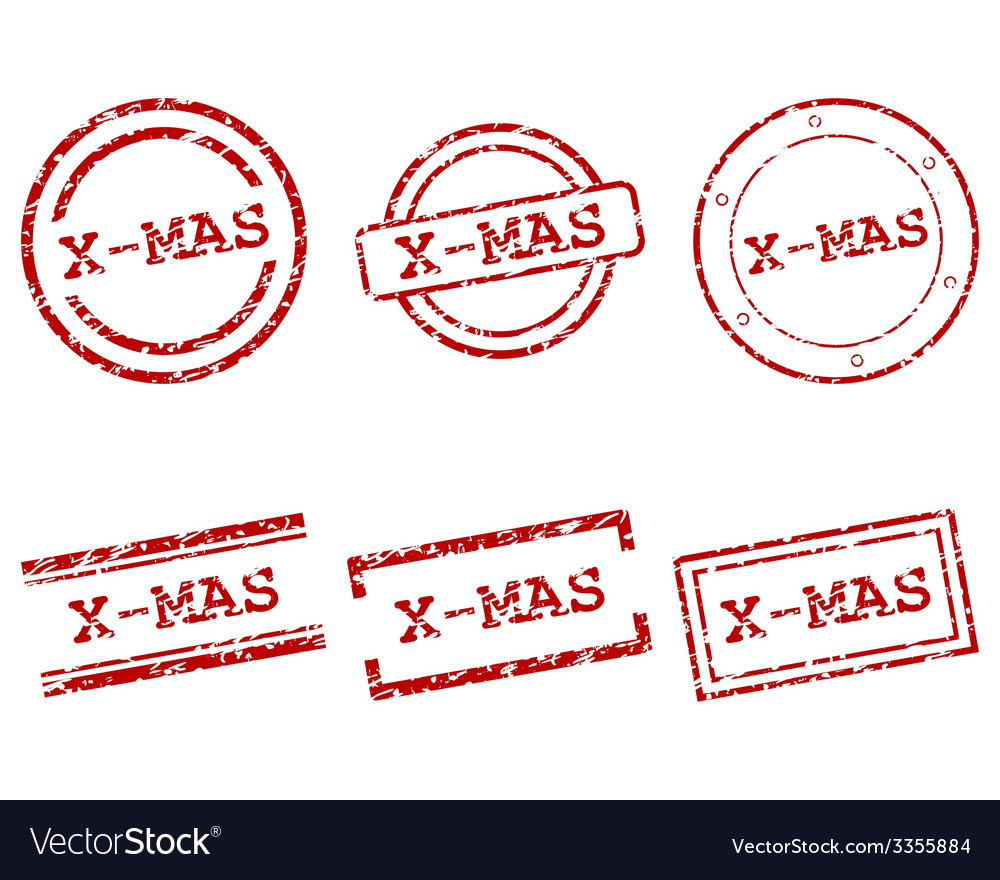 X-mas stamps vector | Price: 1 Credit (USD $1)