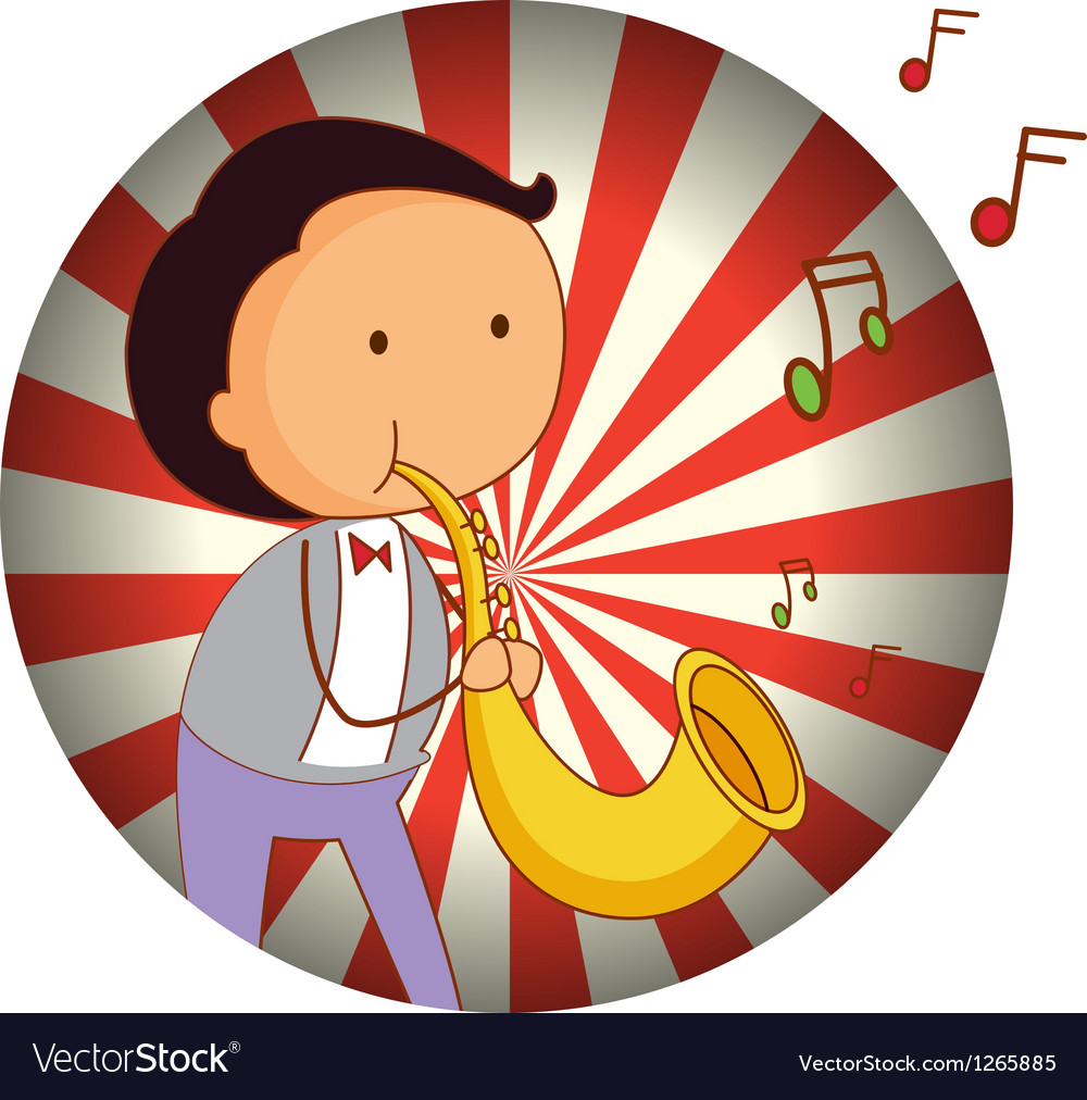 A man playing with the trombone vector | Price: 1 Credit (USD $1)