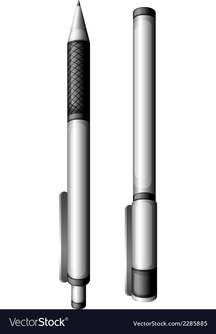 A topview of the two ballpens vector | Price: 1 Credit (USD $1)