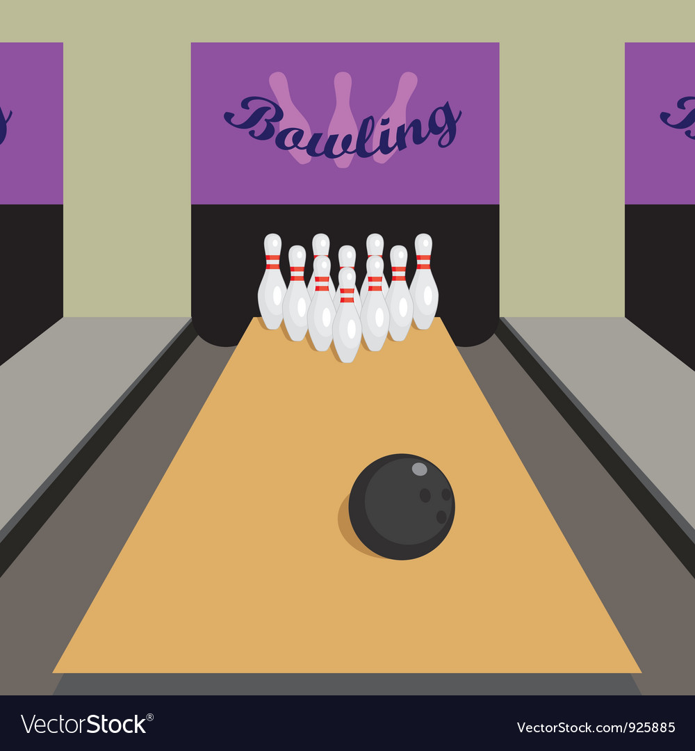 Bowling game vector | Price: 1 Credit (USD $1)