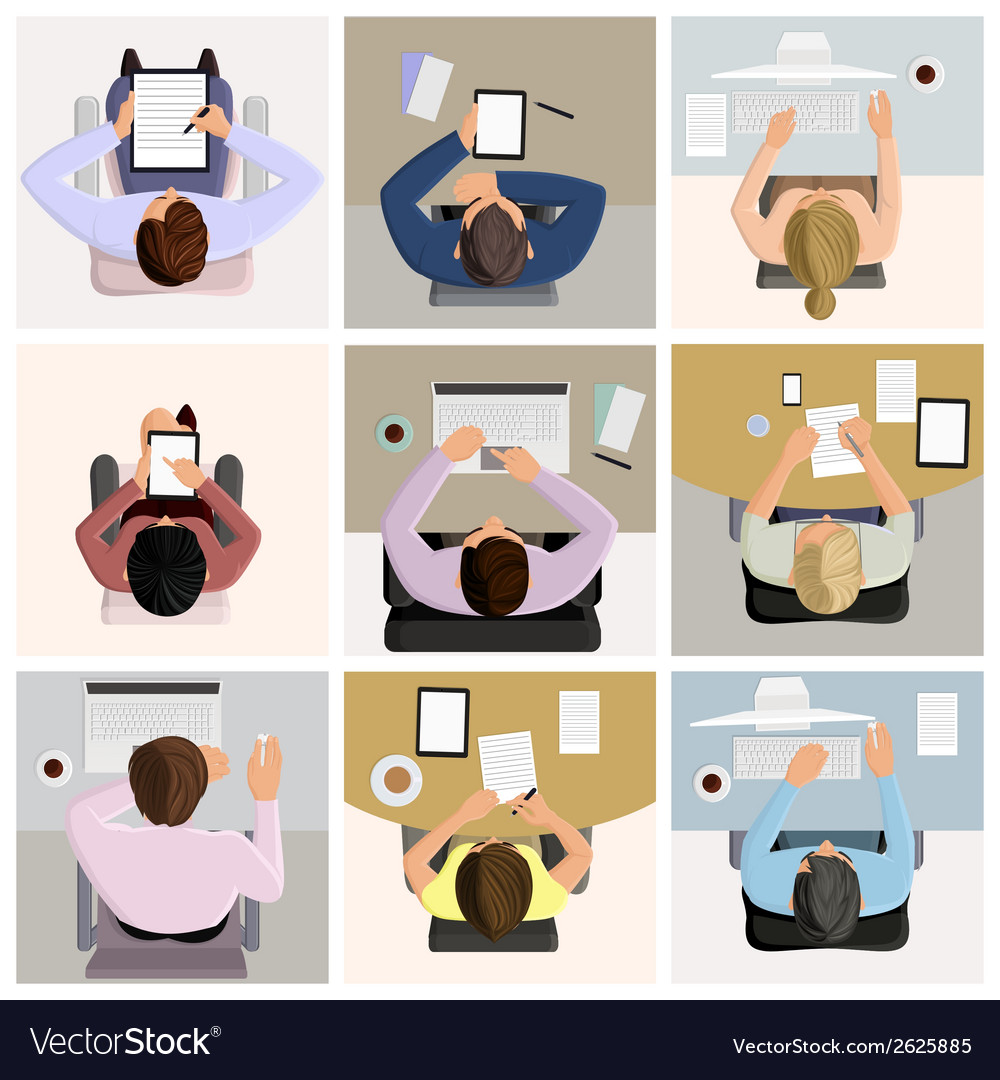 Business office workers vector | Price: 1 Credit (USD $1)