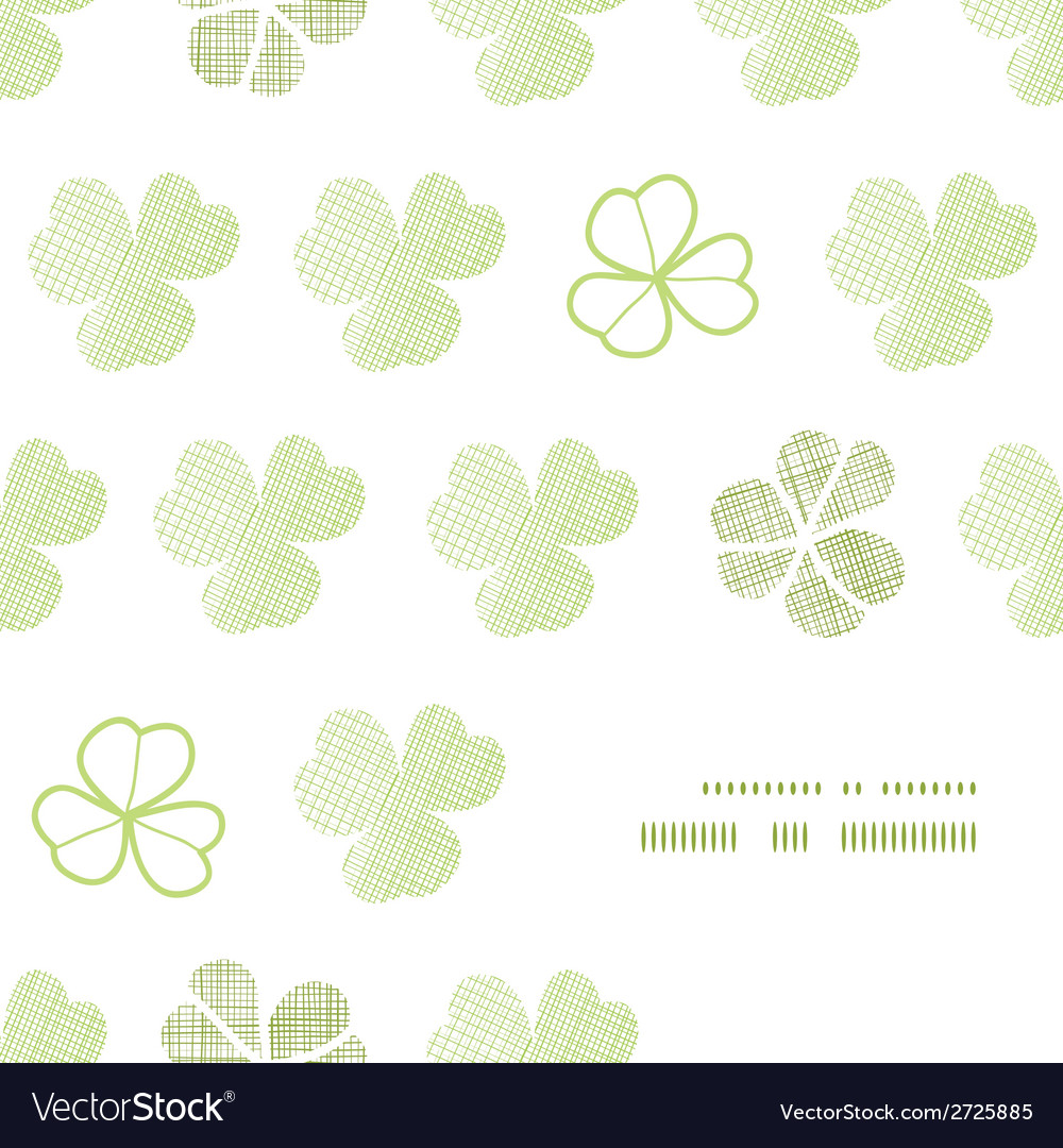 Clover geometric textile textured frame corner vector | Price: 1 Credit (USD $1)