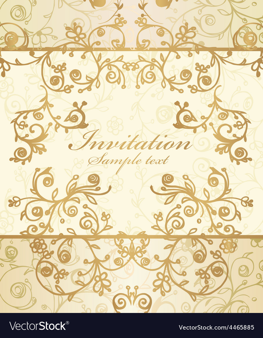 Frame and ornate pattern vector | Price: 1 Credit (USD $1)