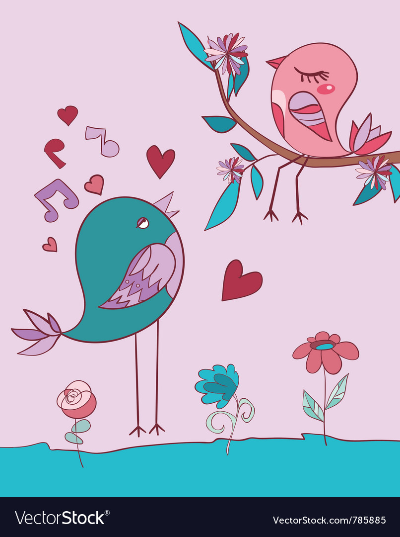 Love bird song vector | Price: 1 Credit (USD $1)