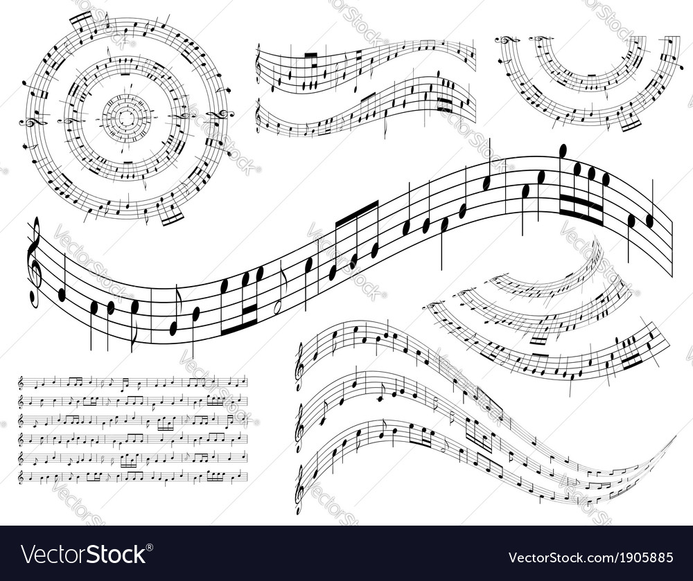 Musical abstract design elements - set vector | Price: 1 Credit (USD $1)