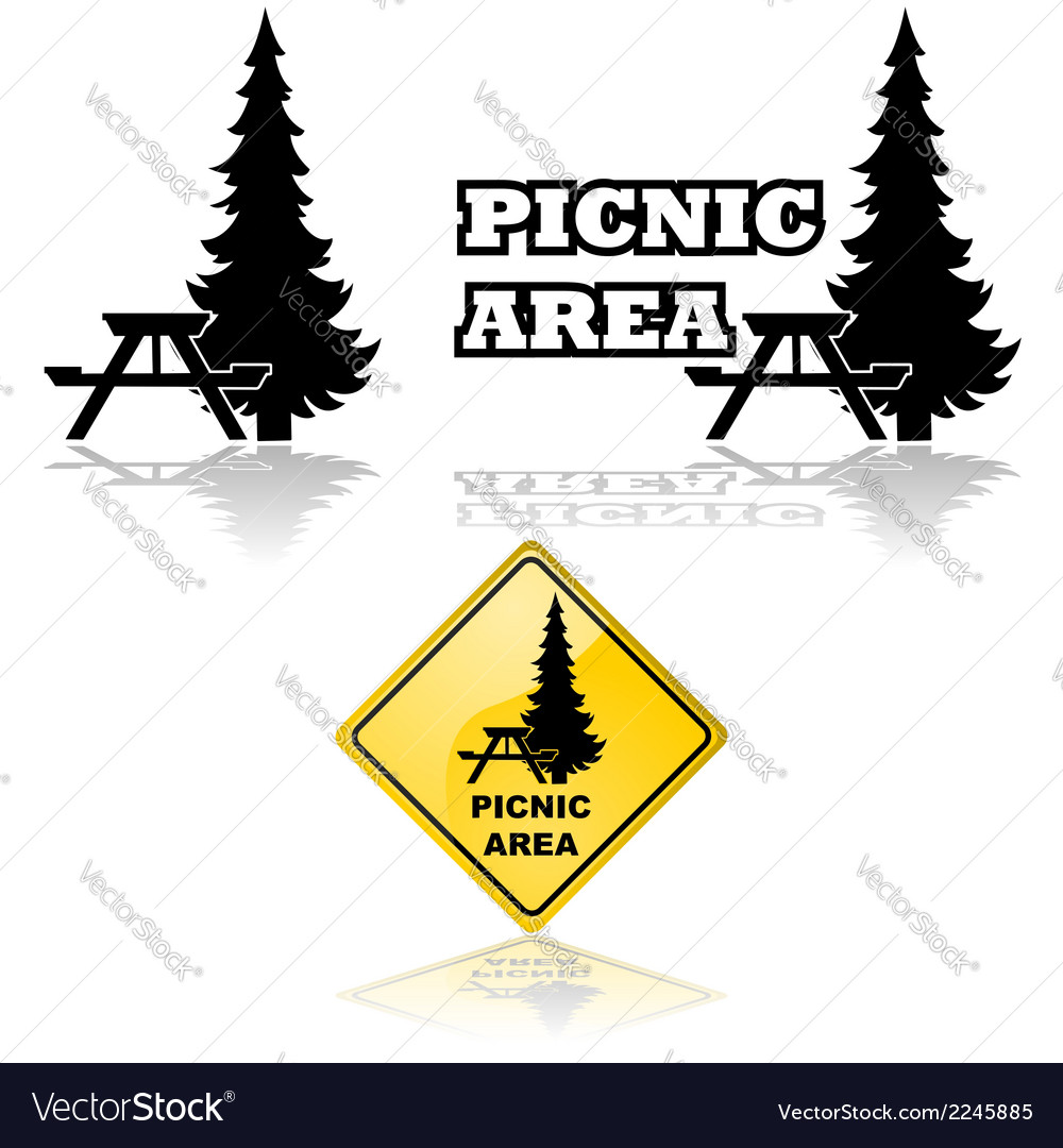 Picnic area vector | Price: 1 Credit (USD $1)