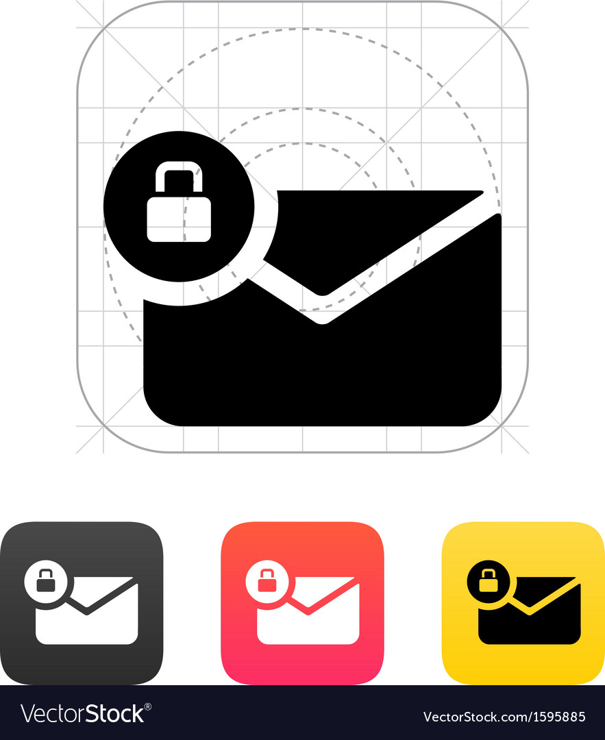 Secure mail icon vector | Price: 1 Credit (USD $1)