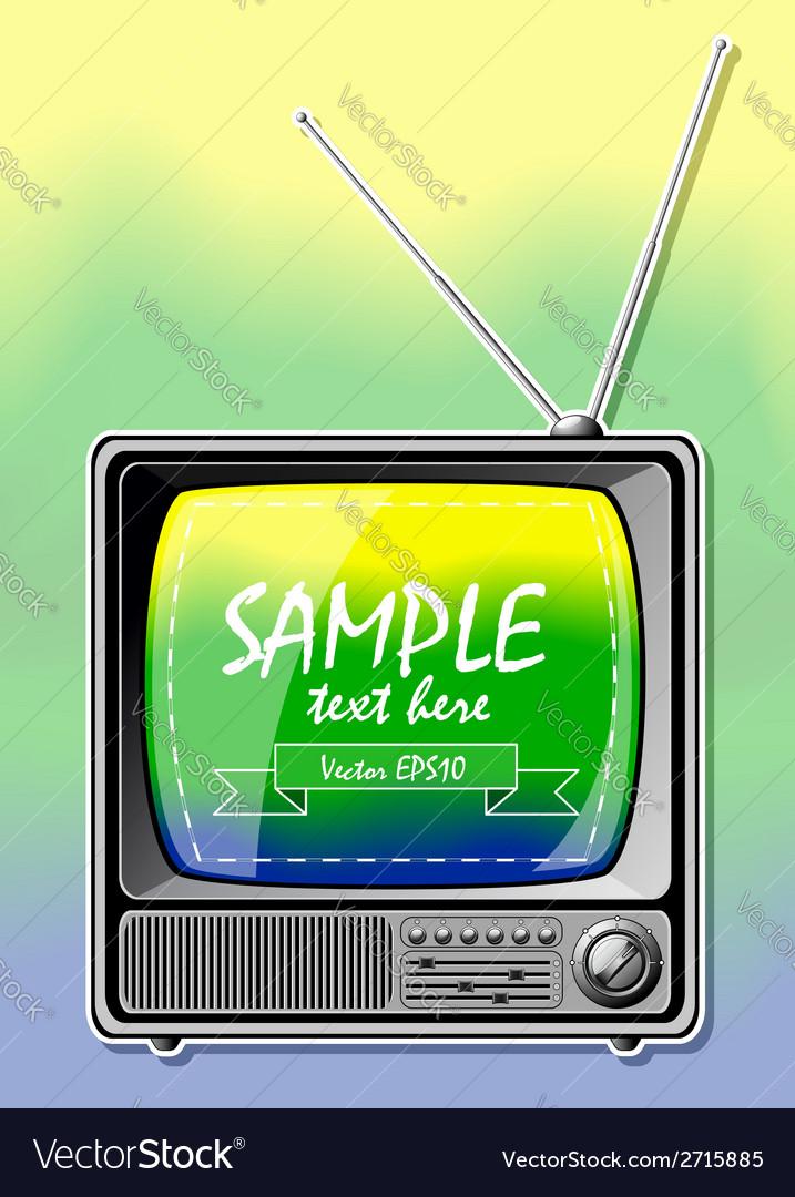 Summer color tv vector   Price: 1 Credit (USD $1)