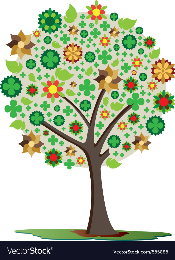 Trees of luck vector | Price: 1 Credit (USD $1)