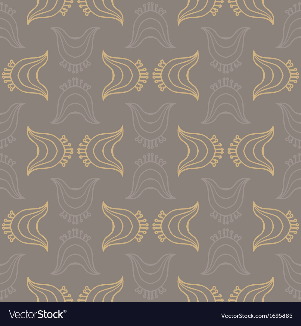 Vintage pattern with organic shapes vector | Price: 1 Credit (USD $1)
