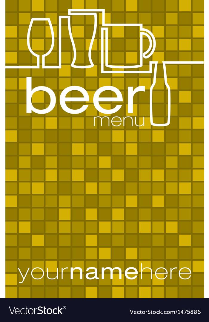 Beer menu vector   Price: 1 Credit (USD $1)