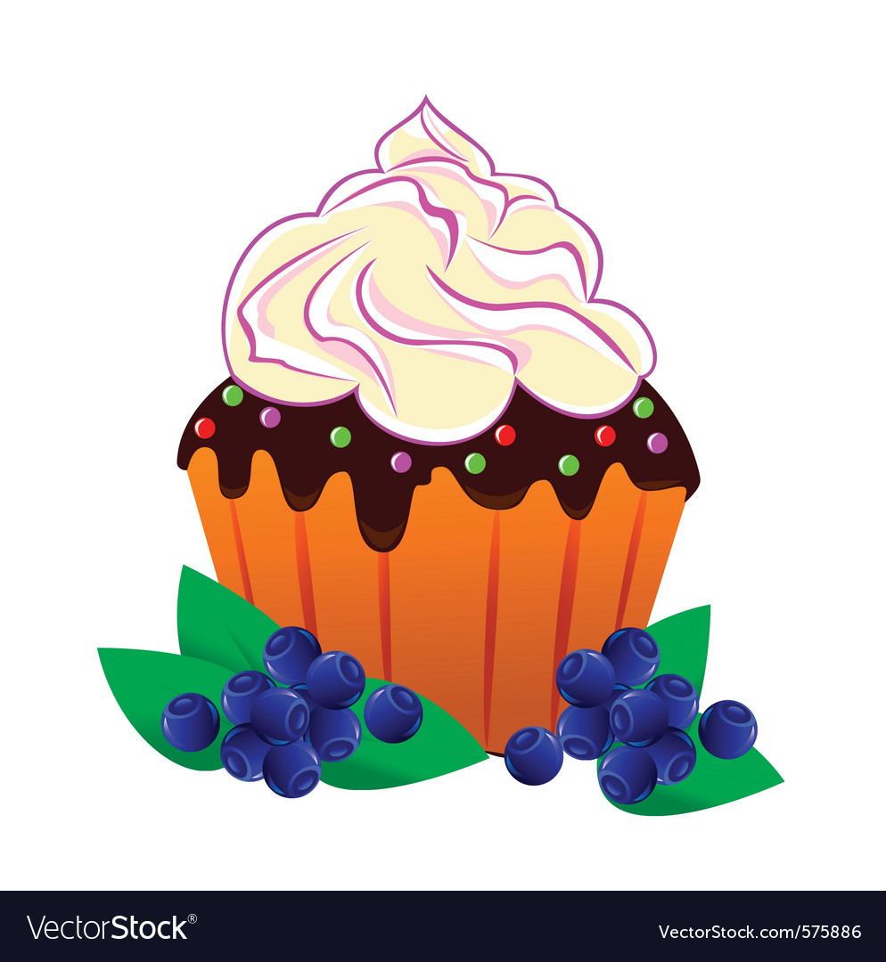 Cake with cream vector | Price: 1 Credit (USD $1)