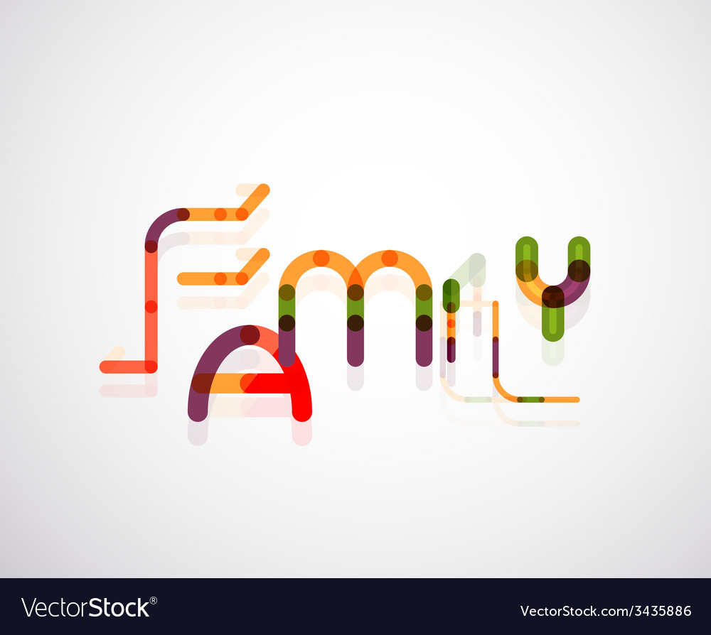 Family word concept vector   Price: 1 Credit (USD $1)