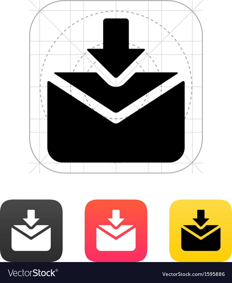 Incoming mails icon vector | Price: 1 Credit (USD $1)