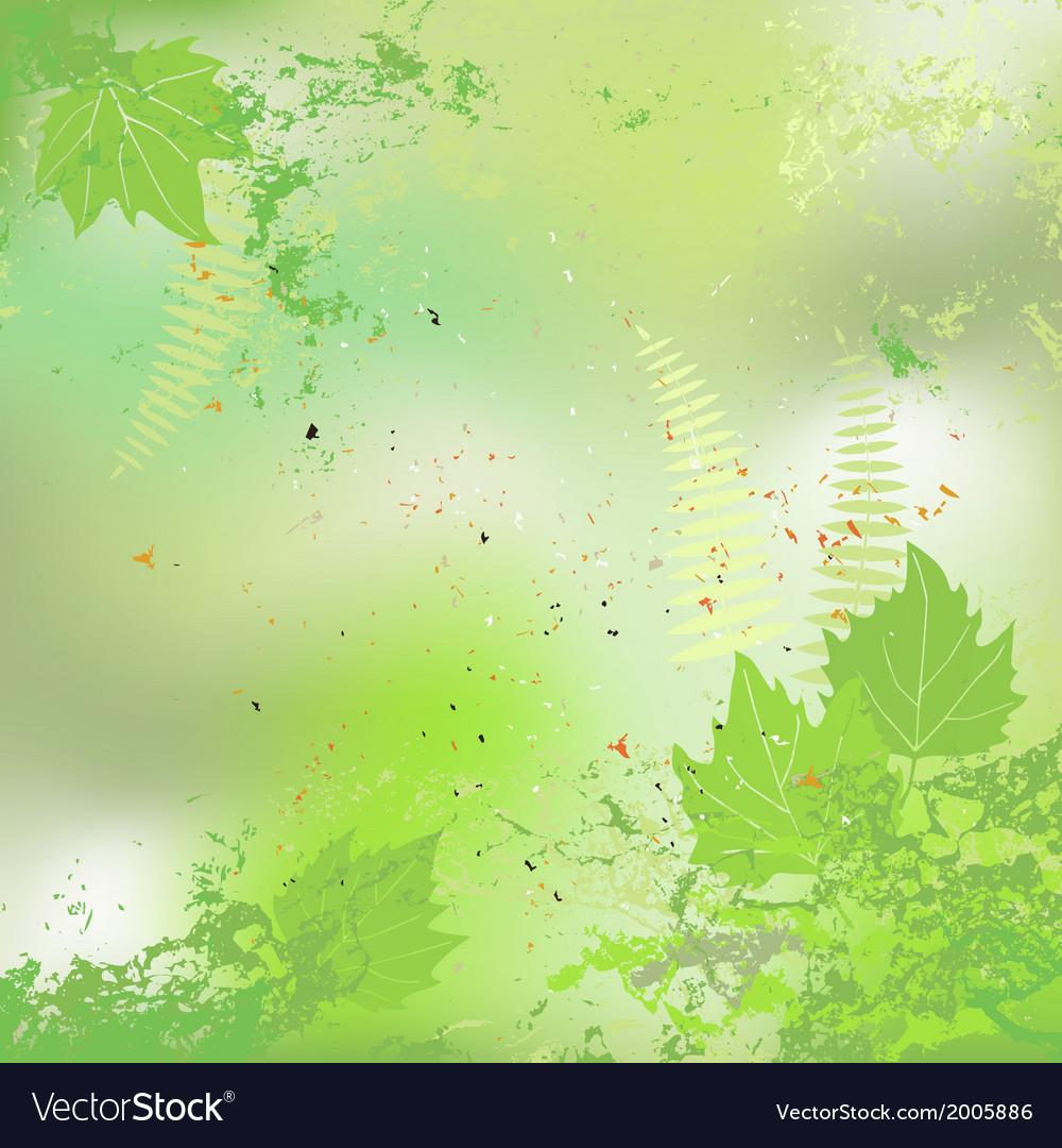 Leaf spring - background vector | Price: 1 Credit (USD $1)