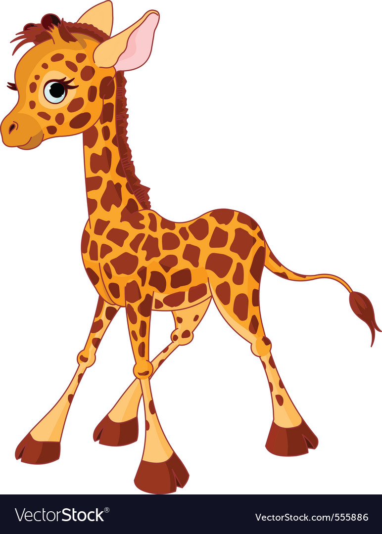 Of little funny giraffe calf vector | Price: 1 Credit (USD $1)