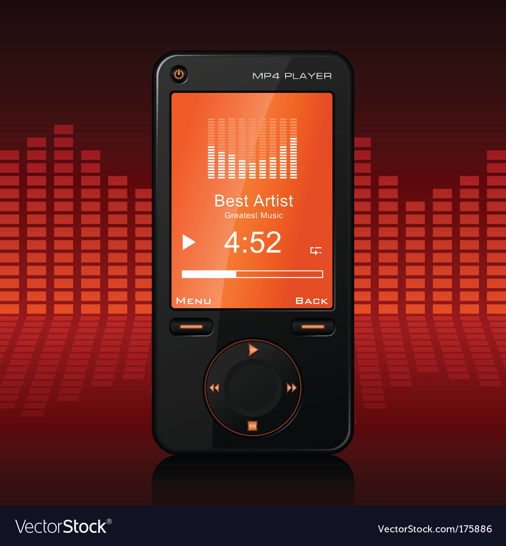 Portable media player vector | Price: 1 Credit (USD $1)