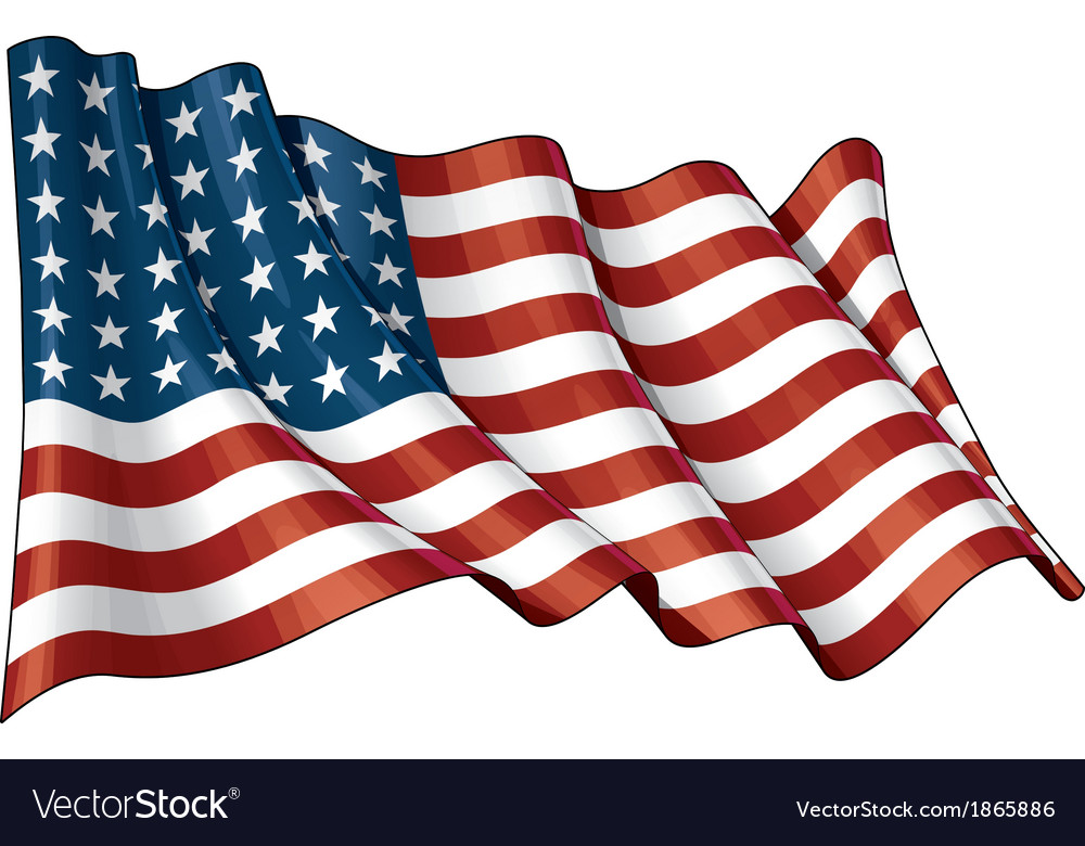 Us flag wwi wwii 48 stars vector | Price: 1 Credit (USD $1)