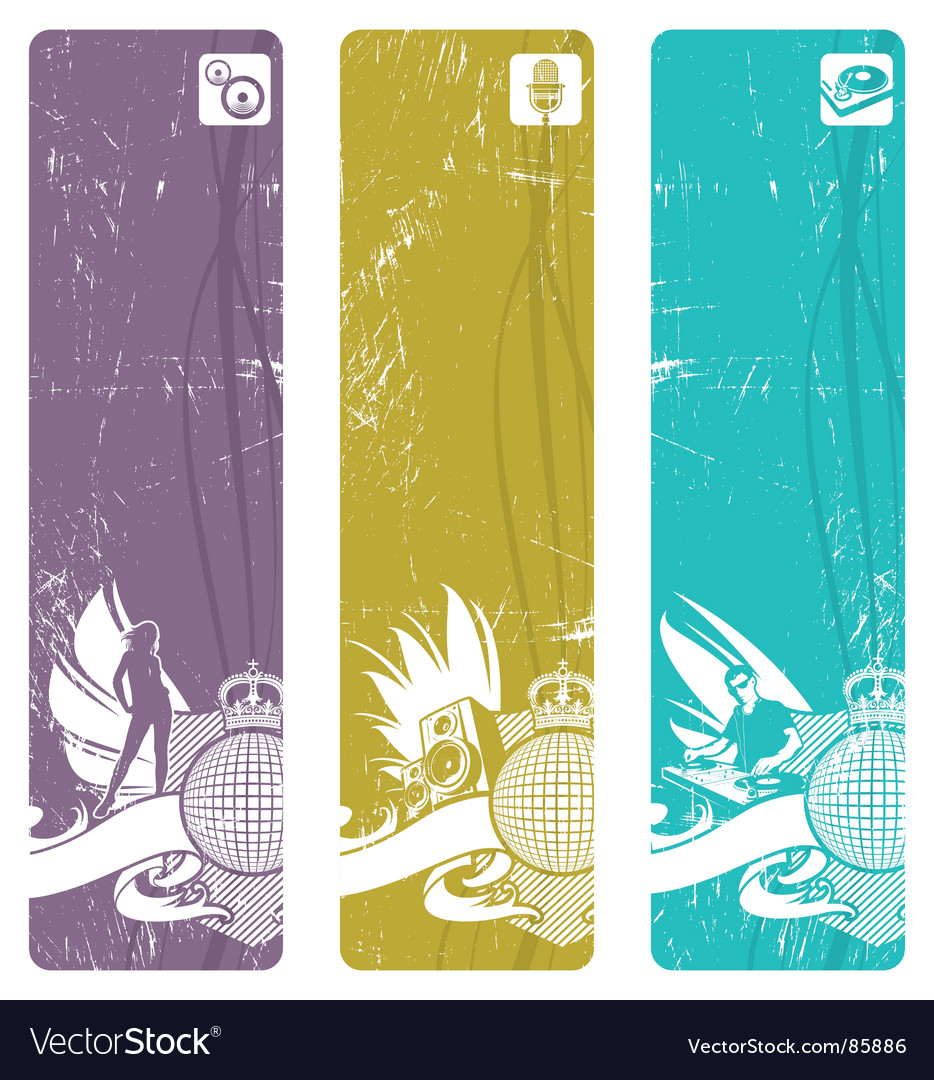 Vertical disco banners vector | Price: 1 Credit (USD $1)