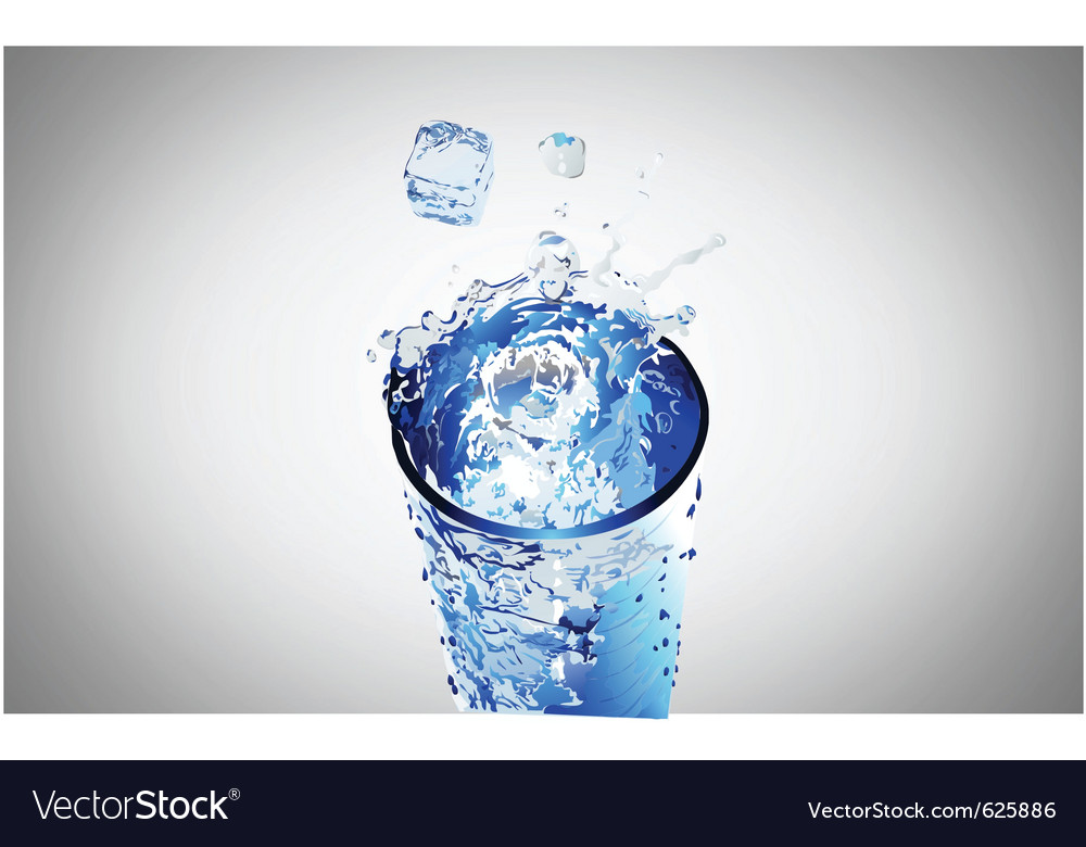 Water glass vector | Price: 1 Credit (USD $1)