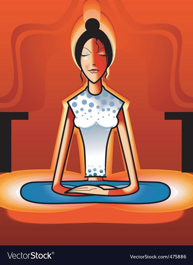 Yoga position vector | Price: 1 Credit (USD $1)