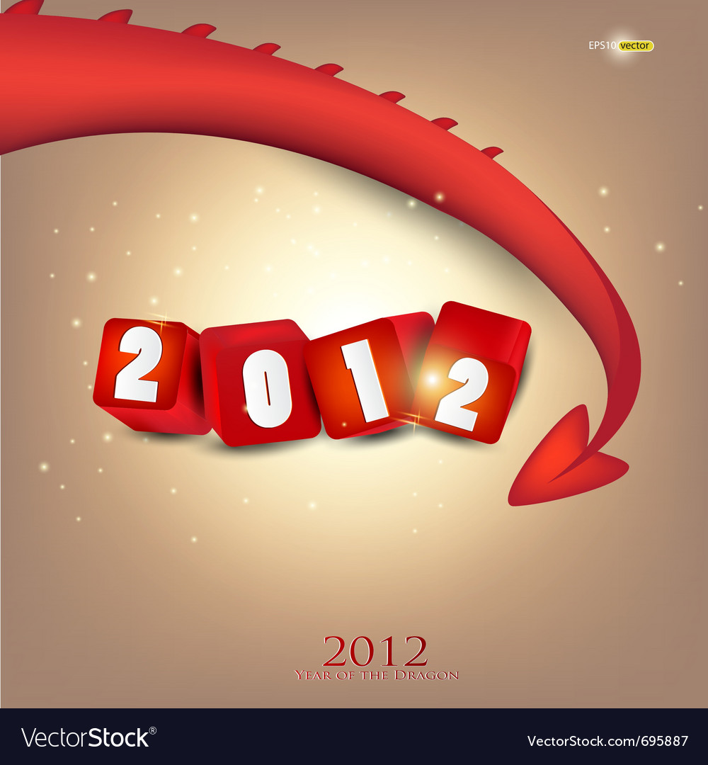 2012 year of dragon vector | Price: 1 Credit (USD $1)