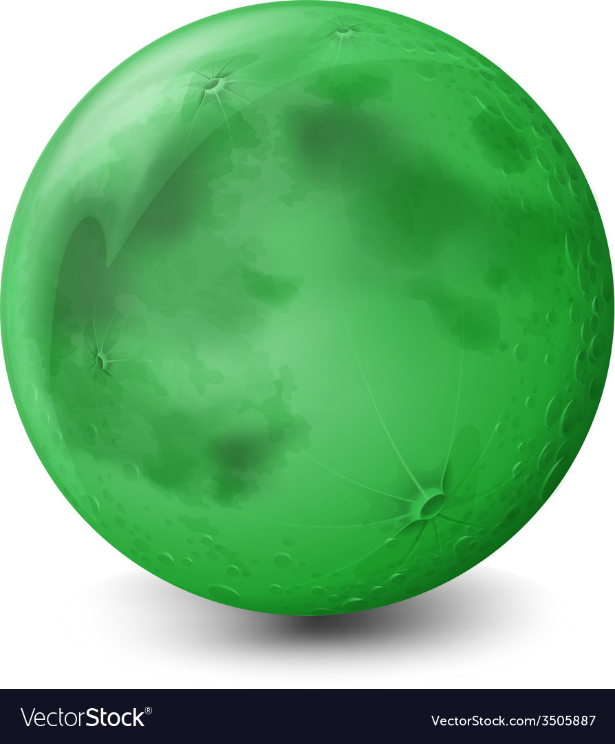 A green planet vector | Price: 1 Credit (USD $1)