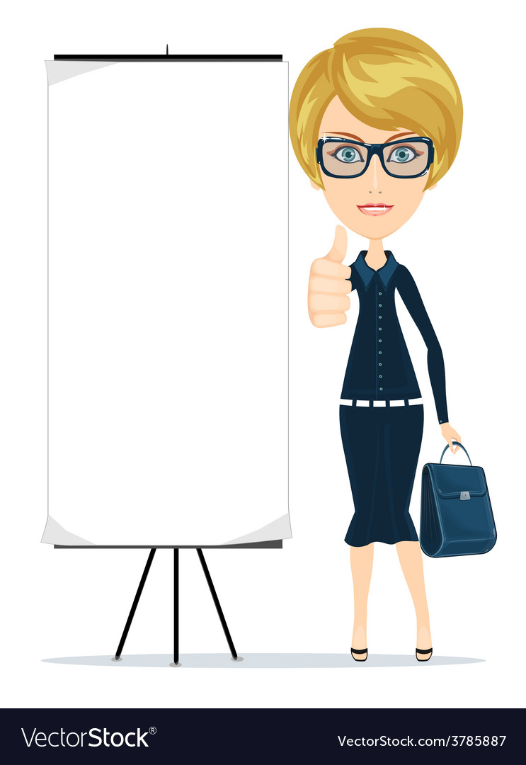 Business woman showing thumbs up vector | Price: 1 Credit (USD $1)