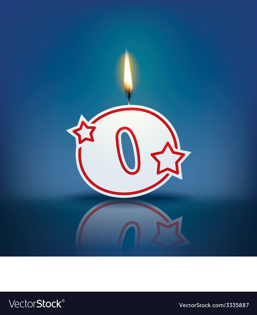 Candle letter o with flame vector   Price: 1 Credit (USD $1)
