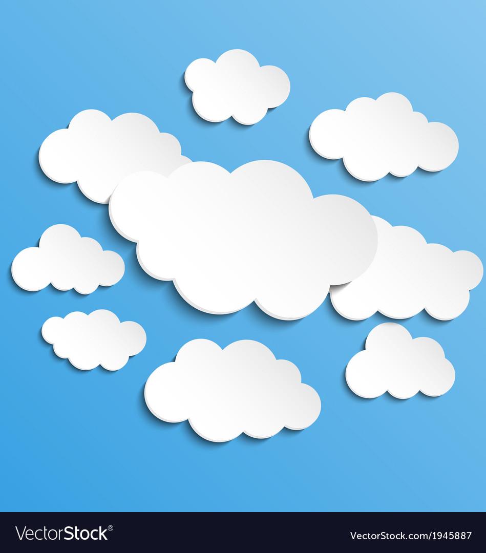 Cloudscape background vector