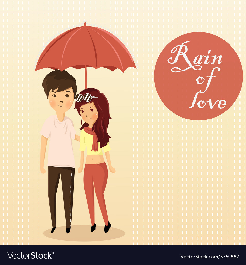 Couples rain vector   Price: 1 Credit (USD $1)