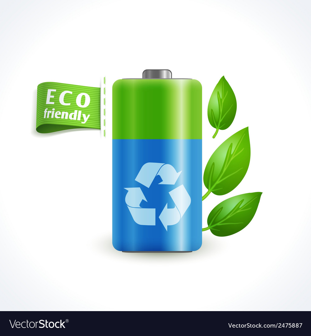 Ecology symbol battery vector | Price: 1 Credit (USD $1)
