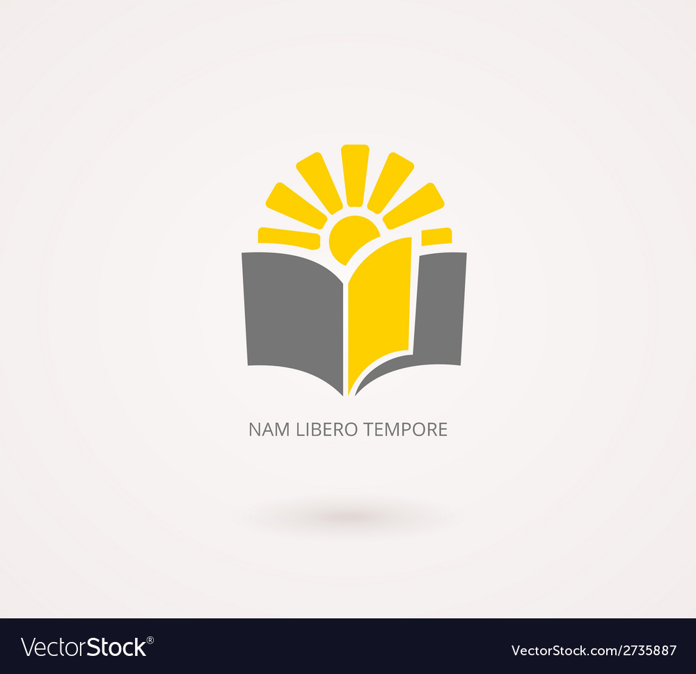 Education concepts yellow and gray knowledge icon vector | Price: 1 Credit (USD $1)