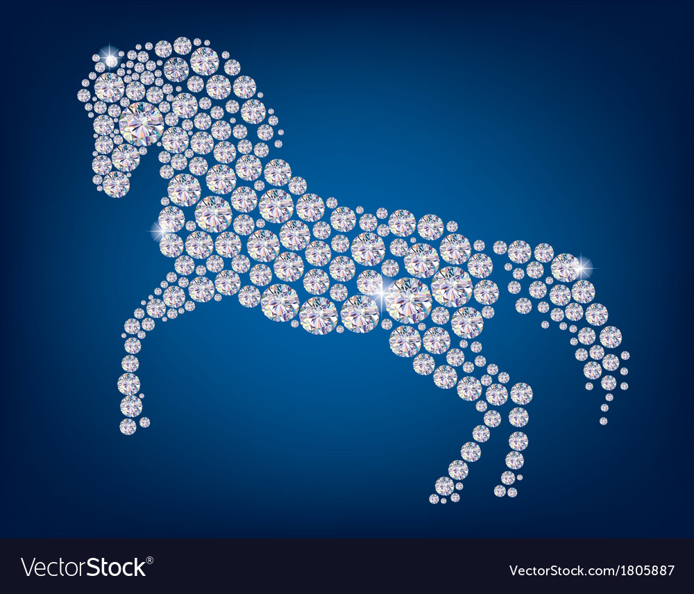 Horse of diamonds vector | Price: 1 Credit (USD $1)